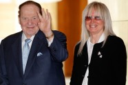 Sheldon Adelson and his wife Miriam Ochsorn Adelson