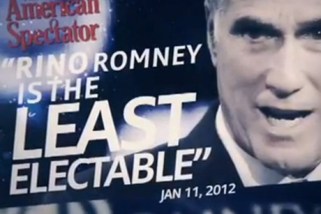A screenshot from an ad put out by a pro-Newt Gingrich super PAC, Winning Our Future.