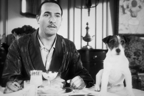 "Jean Dujardin and Uggie in ""The Artist"""