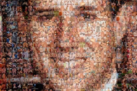A couple creates a portrait of the GOP candidate using images likely to make ...