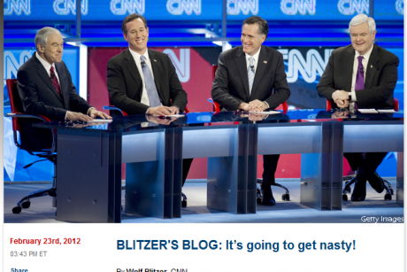 Wolf Blitzer writes perfect political blog post