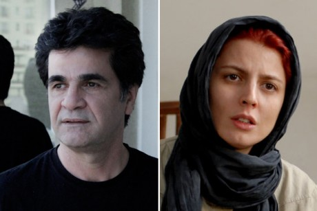 "Jafar Panahi in ""This Is Not a Film"" and Leila Hatami in ""A Separation."""