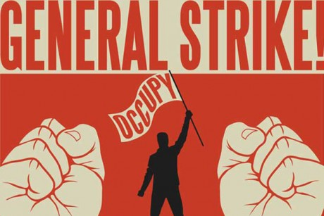 A detail from an Occupy Oakland poster calling for a November 2011 general strike.