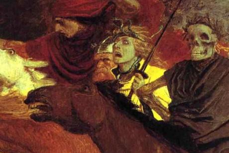 A detail from Arnold Böcklin's Der Krieg