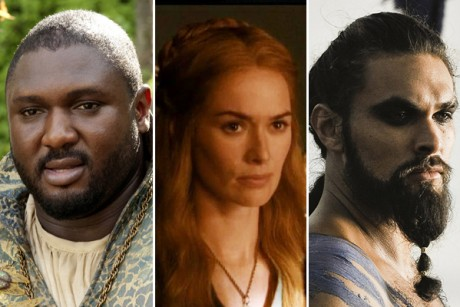"Nonso Anozie, Lena Headey and Jason Momoa in ""Game of Thrones"""