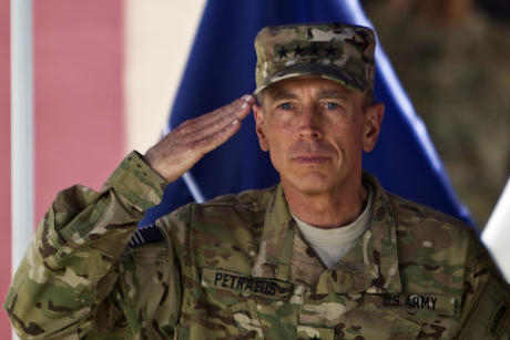 General David Petraeus in Kabul, Afghanistan on July 18, 2011