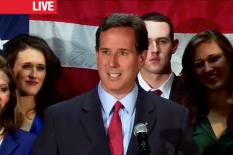 The end of the Santorum campaign