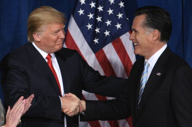 Trump insinuates self into Romney campaign