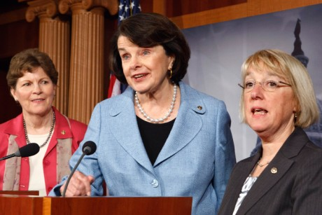 Jeanne Shaheen, Dianne Feinstein and Patty Murray