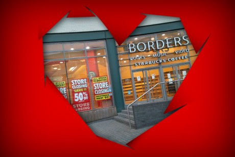 We fell in love at Borders