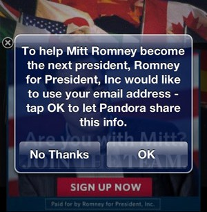 Is Romney on your Pandora playlist?