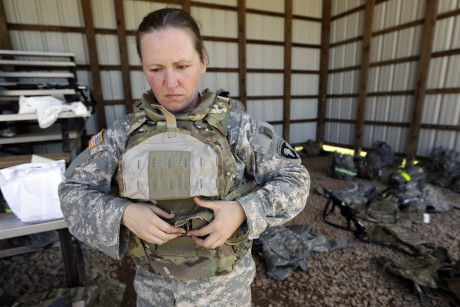 Army tests body armor tailored for female soldiers