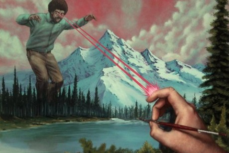 portland gallery pays homage to tv painter bob ross