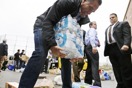Romney camp spent $5,000 to stage storm relief event