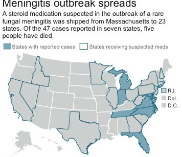 Meningitis death toll rises