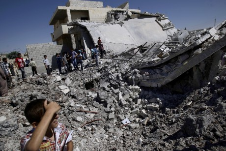 A Syrian house destroyed by government forces shelling (AP Photo/Muhammed Muheisen, File)