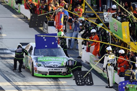 Auto Racing Quote on Kyle Busch Pits During A Nascar Sprint Cup Series Auto Race  Sunday