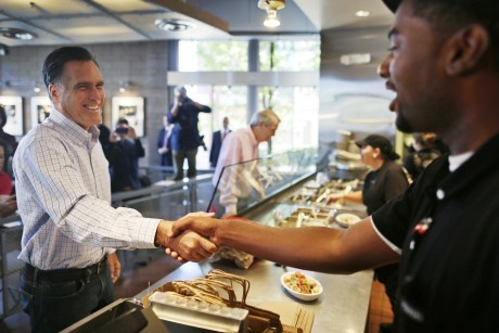 Wide-eyed Chipotle worker, Romney photo goes viral