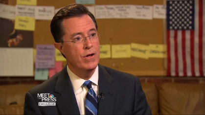 Sunday best: Colbert unmasked