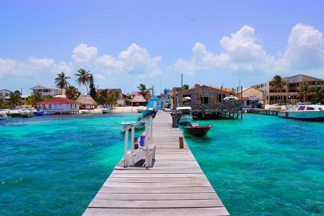 San Pedro Beach in Ambergris Caye, Belize. Photographed by Adam Reeder in June 2007