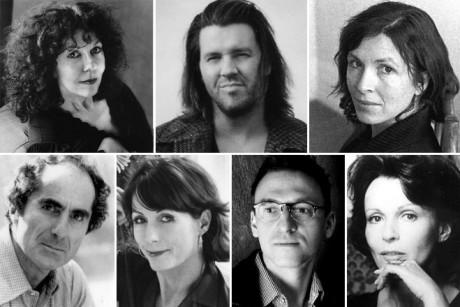 Clockwise from top left: Catherine Texier, David Foster Wallace, Rachel Cusk, Claire Bloom, Benjamin Anastas, Mary Karr, Philip Roth
