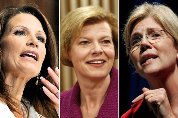 Michele Bachmann, Tammy Baldwin and Elizabeth Warren