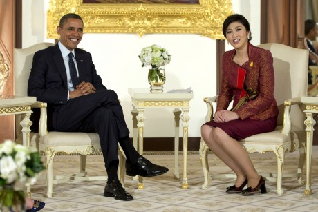 President Barack Obama and Thai Prime Minister Yingluck