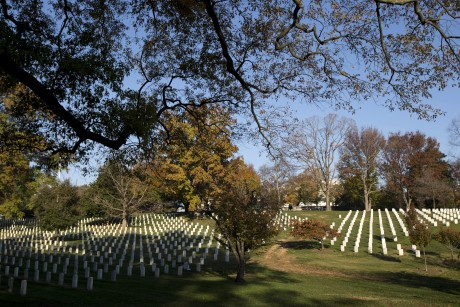 Obama visits Arlington cemetery on Veterans Day