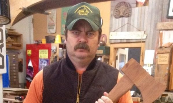 Nick offerman returns to twitter but only to disseminate for Nick s hair salon