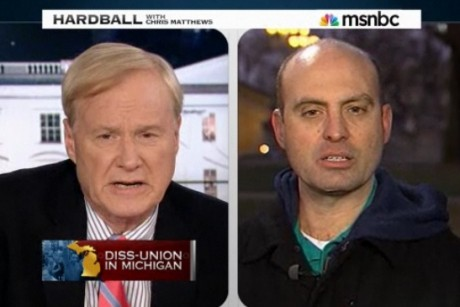 Chris Matthews attacks Michigan GOPer over Koch ties