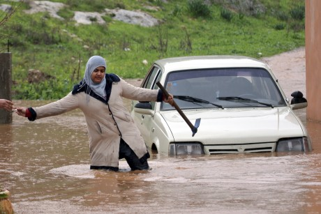 2 Palestinians die from Mideast storm flash flood