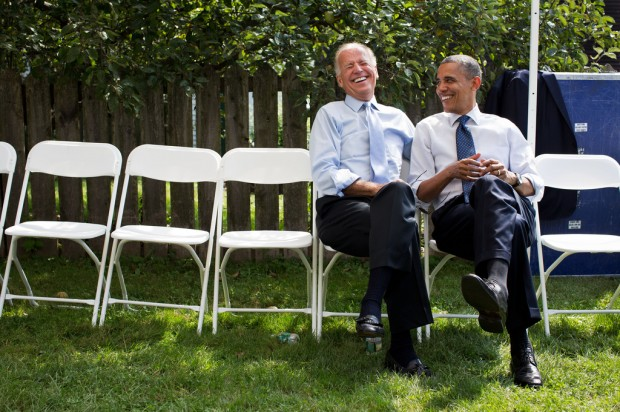 Slideshow: Obama and Biden, laughing together