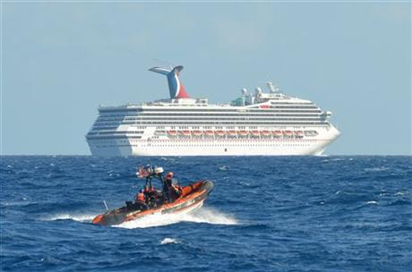 Stranded cruise ship had prior mechanical trouble