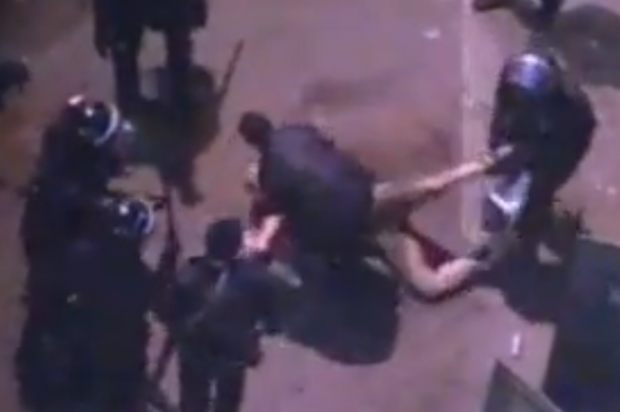 Video: Morsi police strip, beat, drag protester