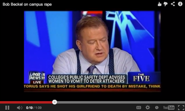 Fox News host doesn't believe rape happens on college campuses