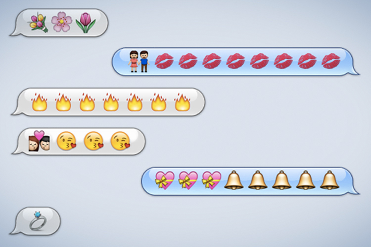 Sexting messages with emojis