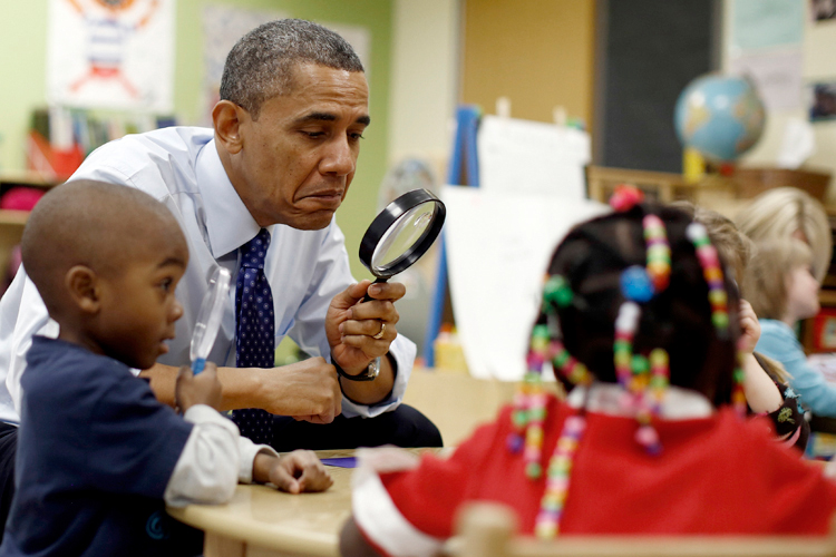 Child Barack Obama Expanding preschool is...