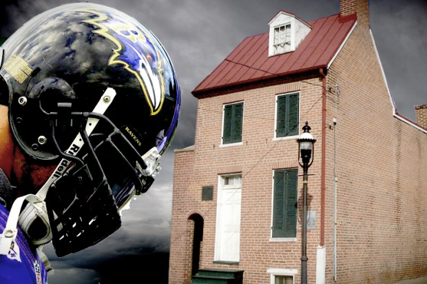 Are the Ravens responsible for the fall of the house of Edgar Allan Poe?