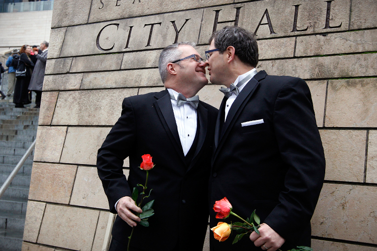pros on gay marriage getting married