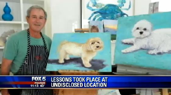 George W Bush S Art Teacher Says He Ll Go Down In The History