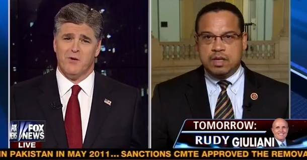 Hannity accuses Keith Ellison of
