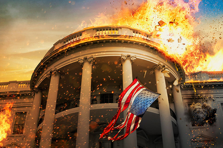Image result for the white house being destroyed