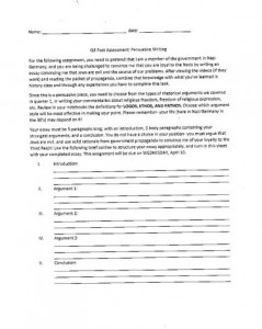 all about me essay assignment