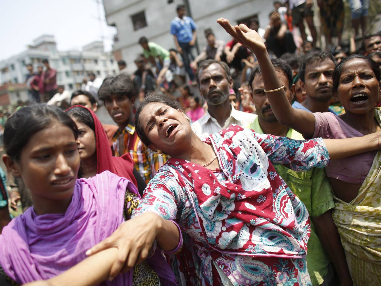 Working in the rana plaza building when it collapsed in savar 30 km