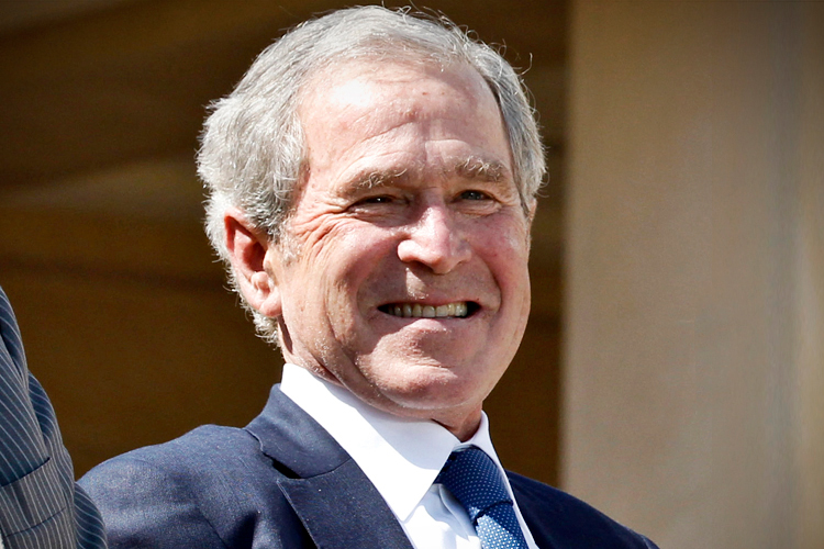 Gepresstes Faustfoto George Bushs