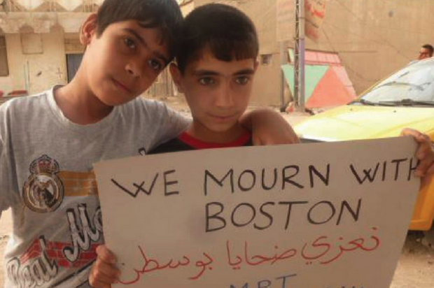 Empathy for Boston, from Iraqi children