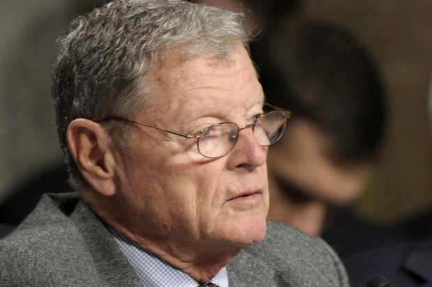 """James Inhofe, a Republican, accused the """"liberal media"""" of exploiting the  devastating tornado in Oklahoma to push its climate change """"agenda."""""""