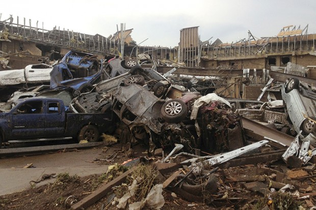 Oklahoma tornado death count at least 91