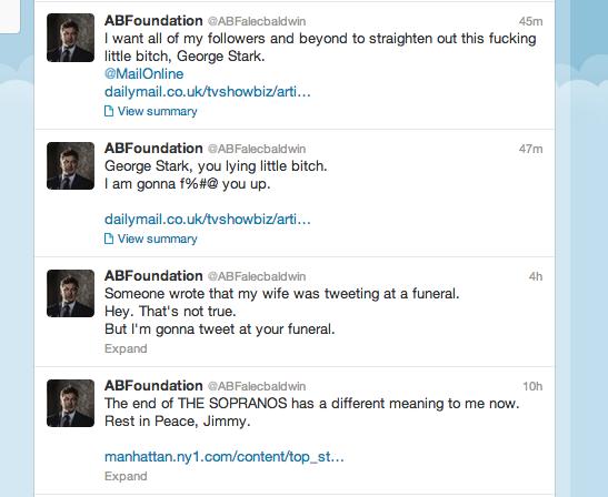 Alec Baldwin's homop... Alec Baldwin Twitter