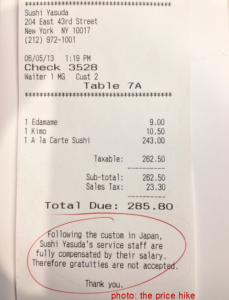 Nyc Restaurant Tip Law